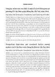 Sàng lọc trầm cảm sau sinh và một số yếu tố liên quan tại phường Ô Chợ Dừa quận Đống Đa, Hà Nội, năm 2016