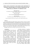 Application of Monte Carlo simulation method to estimate the reliability of design problem of the bored pile according to limited state