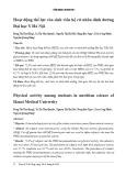 Hoạt động thể lực của sinh viên hệ cử nhân dinh dưỡng Đại học Y Hà Nội