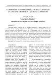 A literature review on using the first language in a second or foreign language classroom