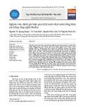 Nghiên cứu, đánh giá hiệu quả xử lý nước thải nuôi trồng thủy sản bằng công nghệ Biofloc