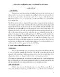 Sáng kiến kinh nghiệm Hóa học 12: Bài toán nhiệt hóa học và cân bằng hóa học