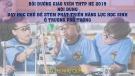 Bài giảng Dạy học chủ đề Stem phát triển năng lực học sinh ở trường phổ thông - Tô Thị Như Quỳnh