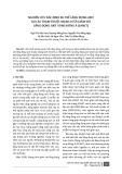 Nghiên cứu xác định xu thế lắng đọng axit tại các trạm thuộc mạng lưới giám sát lắng đọng axit vùng Đông Á (EANET)