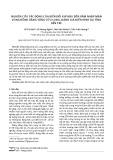 Nghiên cứu tác động của biến đổi khí hậu đến xâm nhập mặn vùng đồng bằng sông Cửu Long, đánh giá điển hình tại tỉnh Bến Tre