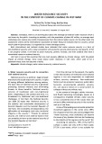 Water resource security in the context of climate change in Viet Nam