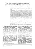 Lựa chọn cấu trúc giếng khoan slimhole cho giai đoạn phát triển lồ B&48/95 và lô 52/97
