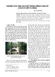 Nghiên cứu hiệu quả hệ thống giếng giảm áp K160÷161 đê Tả Hồng