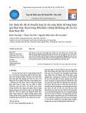 Xác định tốc độ di chuyển hợp lý của máy khấu để tăng hiệu quả khai thác than trong điều kiện cường độ kháng cắt của vỉa than thay đổi