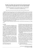 Nghiên cứu phân vùng thay đổi tài nguyên nước mặt do thay đổi sử dụng đất cho lưu vực sông Srêpôk