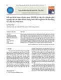 Kết quả tính tham số góc quay EULER từ vận tốc chuyển dịch ngang trên các điểm thuộc mạng lưới GNSS nghiên cứu địa động lực lãnh thổ Việt Nam