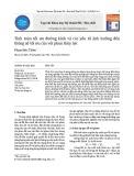 Tính toán tối ưu đường kính và các yếu tố ảnh hưởng đến thông số tối ưu của vòi phun thủy lực