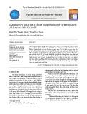 Giải pháp kỹ thuật xử lý cắt đá nâng nền lò chợ cơ giới hóa vỉa 14.5 tại mỏ Khe Chàm III