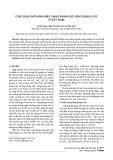 Ứng dụng mô hình WRF-CMAQ đánh giá lắng đọng a xít ở Việt Nam