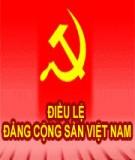 Bài thu hoạch Nhận thức về điều lệ Đảng cộng sản Việt Nam và quy định về những điều Đảng viên không được làm