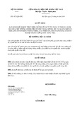 Quyết định số 1072/QĐ-BTC