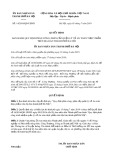 Quyết định số 14/2019/QĐ-UBND TP Hà Nội