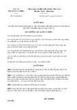 Quyết định số 431/QĐ-QLD