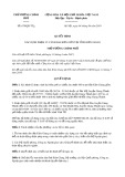 Quyết định số 679/2019/QĐ-TTg