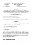 Quyết định 26/2019/QĐ-UBND tỉnh Cà Mau