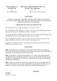 Quyết định số 1329/QĐ-UBND tỉnh BếnTre