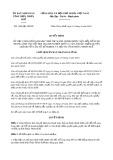 Quyết định số 1440/QĐ-UBND tỉnh ThừaThiênHuế