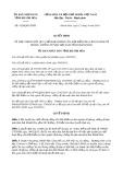 Quyết định số 1826/QĐ-UBND tỉnh KhánhHòa