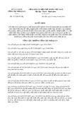 Quyết định số 1737/QĐ-TCHQ