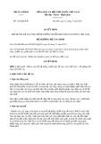 Quyết định số 1299/QĐ-BTC