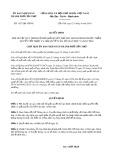 Quyết định số 1537/QĐ-UBND TP CầnThơ