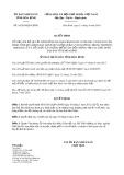 Quyết định số 16/2019/QĐ-UBND tỉnh Hòa Bình