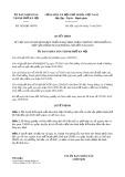 Quyết định số 3629/QĐ-UBND TP HàNội