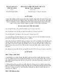 Quyết định số 09/2019/QĐ-UBND tỉnh Thái Bình