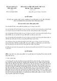 Quyết định số 21/2019/QĐ-UBND tỉnh Lạng Sơn
