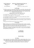 Quyết định số 937/QĐ-UBND tỉnh PhúYên