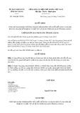 Quyết định số 1460/QĐ-UBND tỉnh HàGiang