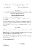 Quyết định số 1541/QĐ-UBND tỉnh ĐắkLắk