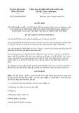 Quyết định số 25/2019/QĐ-UBND tỉnh Vĩnh Phúc