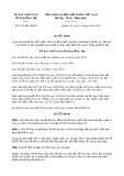 Quyết định số 1537/QĐ-UBND tỉnh QuảngTrị