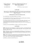 Quyết định số 1083/QĐ-UBND tỉnh TràVinh