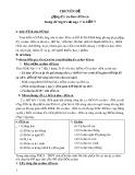 Chuyên đề Giảng dạy ca dao dân ca trong chương trình Ngữ văn lớp 7