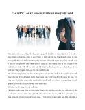 Các bước lập kế hoạch tuyển nhân sự hiệu quả