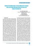 Nghiên cứu những nhân tố ảnh hưởng đến thu nhập của các hộ ngư dân khai thác hải sản xa bờ thành phố Đồng Hới