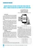 Nghiên cứu mã QR (QR Code) và ứng dụng trong công tác quản lý thông tin sinh viên tại trường Đại học Quảng Bình