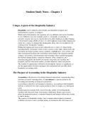 Managerial Accounting for the hospitality industry (Student study notes): Chapter 1 - Dopson, Hayes