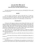 Sáu quy tắc tổng quát phân loại hàng hóa