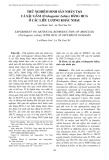 Thử nghiệm sinh sản nhân tạo cá sặc gấm (trichogaster lalius) bằng HCG ở các liều lượng khác nhau