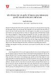 Yếu tố dân tộc và quốc tế trong quá trình giải quyết vấn đề nước Đức thế kỷ XIX