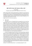 Biến thể từ Hán Việt trong tiếng Việt