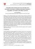 Towards the integration of culture into teaching English in upper secondary schools: Teachers' concerns and expectations